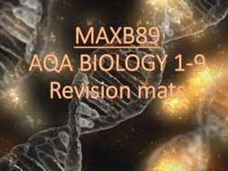 GCSE 9-1 Revision Biology AQA Unit 4 Revision Mats