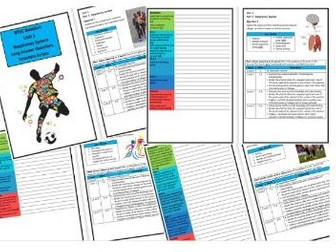 Btec Sport - Level 3 - Unit 1 - Structure Strip - Respiratory System (Long Answer Questions)