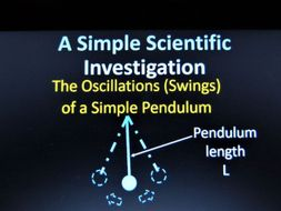 Forces and Movement- Pendulum Experimental Investigation - Powerpoint Slides