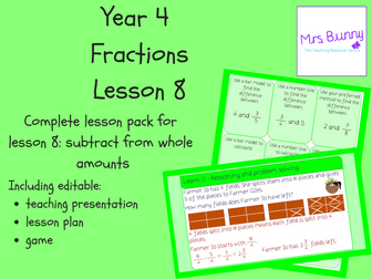 8. Fractions: subtract from whole amounts lesson pack (Y4)