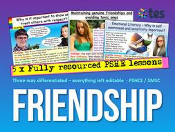 Friends + Friendship PSHE