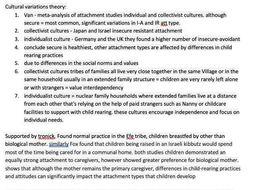 A-Level Psychology: Attachment Notes