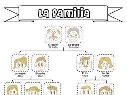 Spanish Ks3 - La familia - booklet of activities
