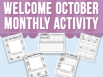 Welcome October - Monthly Activity