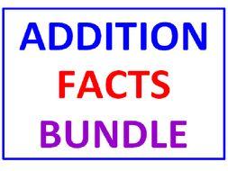 Addition Facts BUNDLE 10 Worksheets