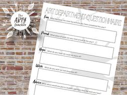 Art Department Questionnaire