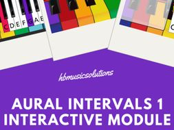 Aural Intervals 1 Music KS2/KS3 Interactive Activity Ages 8 - 13
