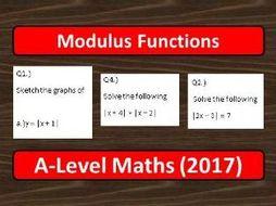 A-Level Maths (2017) Modulus Functions
