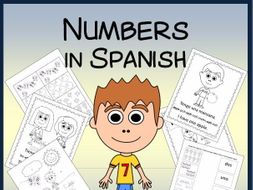Spanish Numbers Vocabulary Sheets, Worksheets and Memory Game