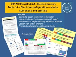 Electron configuration – shells, sub-shells and orbitals - OCR AS Chemistry