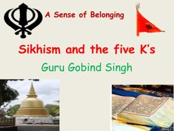 Sikhism  The Five K's of the Sikh Religion  PowerPoint  Lesson Plan Worksheets