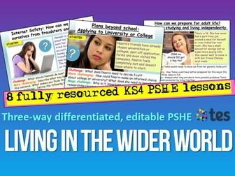 Living in The Wider World PSHE KS4