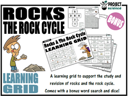 Rocks and The Rock Cycle Learning Grid