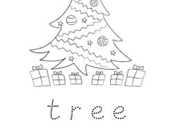 Free Christmas Colouring and Word Trace Activity for Early