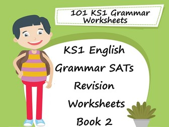101 KS1 English Grammar SAT Revision Worksheets Book 2 + Answers