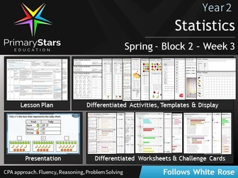 YEAR 2 - Statistics- White Rose - WEEK 3 - Block 2- Spring- Differentiated Planning & Resources