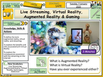 Live Streaming, Virtual Reality, Augmented Reality & Gaming
