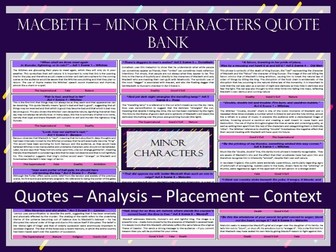 Macbeth - Minor Characters A3 Quote Bank