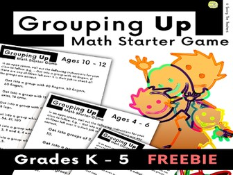 Active Math Lesson Starter - Mental Math - Outdoor Activity