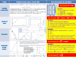 AQA Mechanics 2 Past paper questions organised by topic