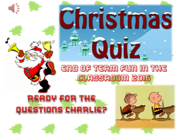 THE ULTIMATE CHRISTMAS FUN CLASSROOM QUIZ FOR 2016