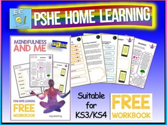 PSHE Home Learning Mindfulness