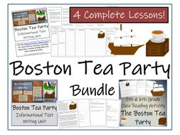 UKS2 History - Bundle of Boston Tea Party  Activities