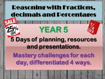 Reasoning with fractions, decimals and percentages