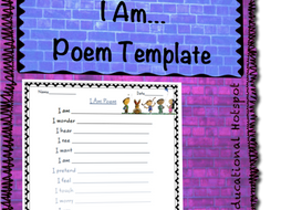 I Am From Poem Template | I Am Poem Worksheet Template By Myeducationalhotspot Teaching