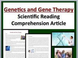 Genetics and Gene Therapy Comprehension Reading KS3 and KS4