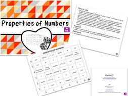 Properties of Numbers (Learning Grids)