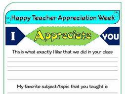 teacher appreciation week essays Teacher appreciation week first person essays a letter to my grandmother a teacher helps a child improve her handwriting through writing poetry.