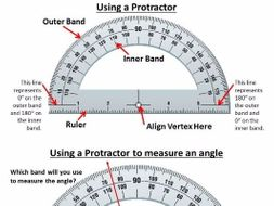 Using a Protractor Guiding Worksheet