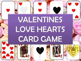 Valentines Hearts Playing Cards plenary game - any subject