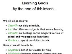 My Daily Schedule Workbook