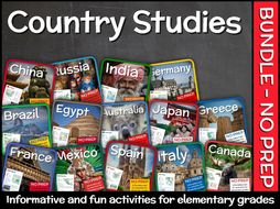 Country Studies Bundle for Elementary Grades  (14 Units)