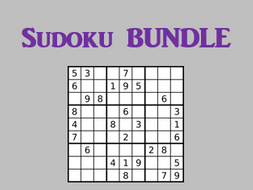 Sudoku Present tense Verb games in French Bundle