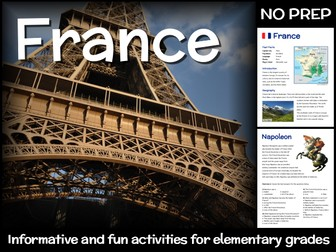 France (country study for elementary grades)