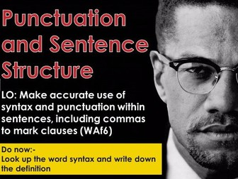Autobiography - Punctuation and sentence structure