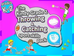 K-2 PE Sport - The Throw & Catch PE LESSONS Skill & Games Pack