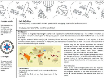 Geography Home Learning Tasks