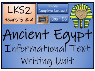 LKS2 History - Ancient Egypt Informational Text Writing Activity