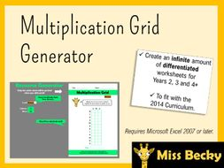 Mental Multiplication Grid Worksheet Generator | Teaching ...