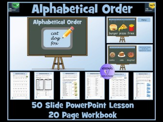 Alphabetical Order: PowerPoint Lesson and Worksheets