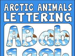 ARCTIC ANIMALS LETTERING - LETTERS AND NUMBERS