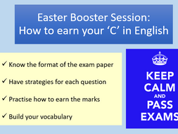 Cambridge IGCSE English Revision Booklet and Powerpoint (Core Paper 1)