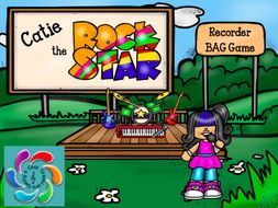 Catie the Rock Star! Interactive Recorder BAG Game for Google Slides /Adobe