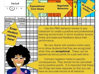 Classroom Management Behavior Tracker