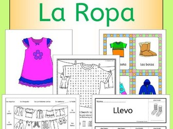 Spanish Clothes - La Ropa - activities, games and puzzles