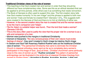 OCR RELIGIOUS STUDIES- Gender and Society NOTES